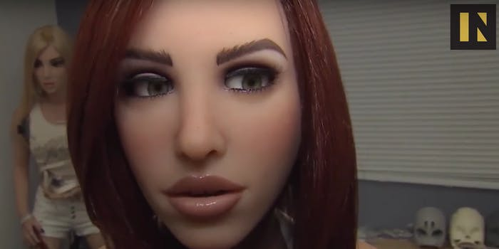 Sex robots might eventually replace human partners.