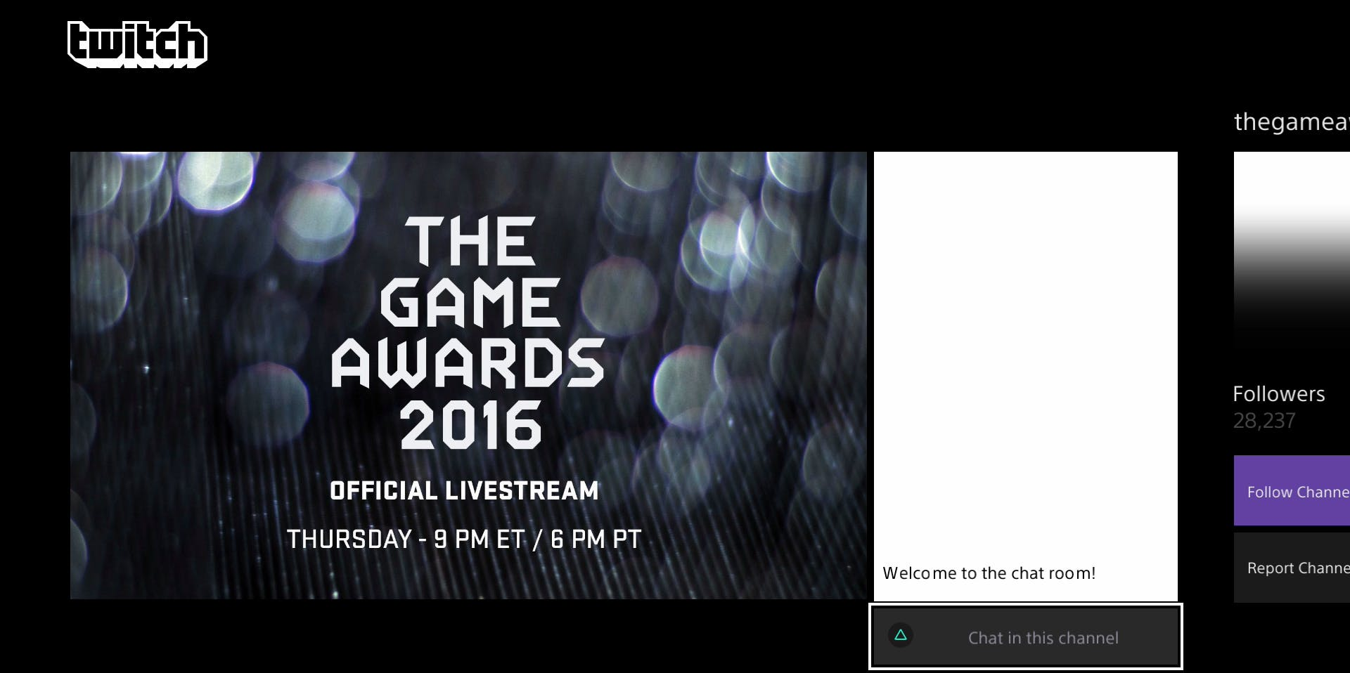 Twitch might be the best place to be in order to discuss the Awards in real time with other fans.