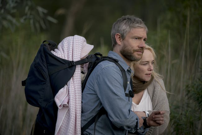 Andy and his wife Vic early in 'Cargo'.