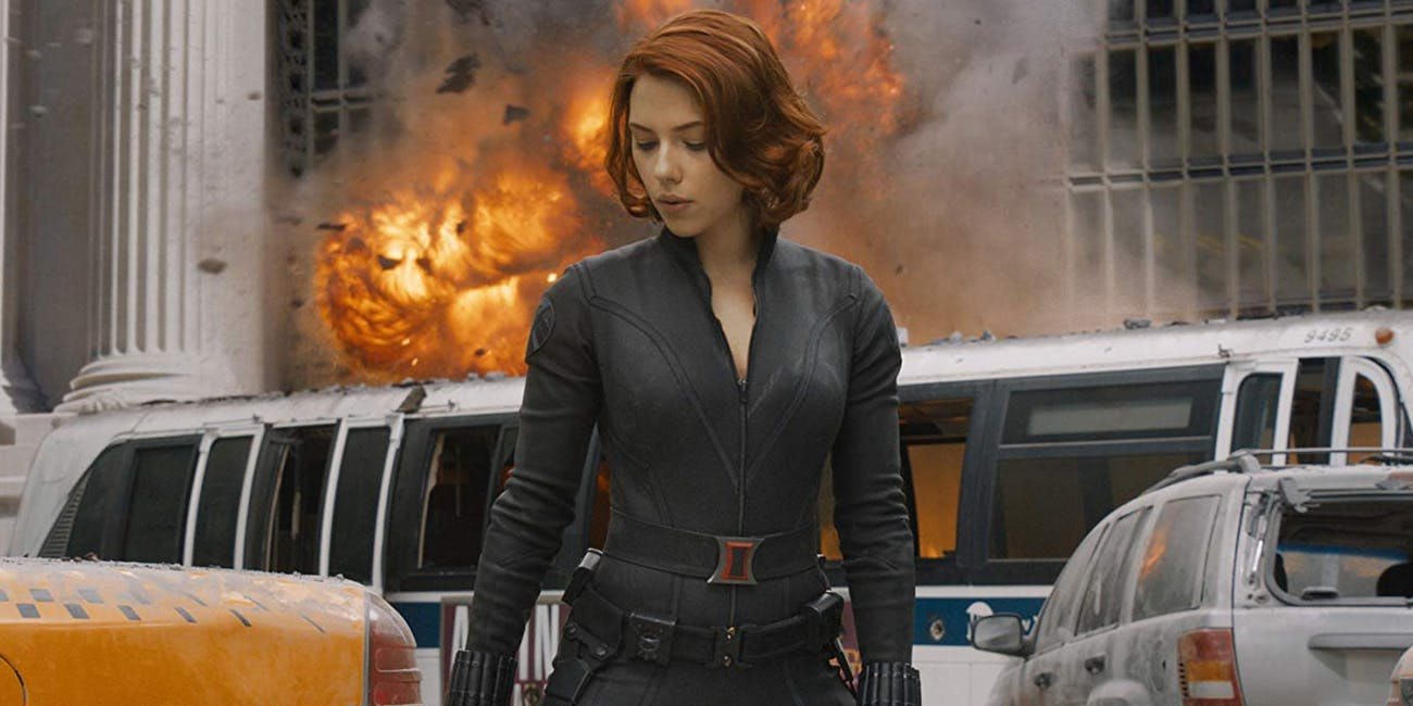 Black Widow during Battle of New York in 'Marvel's The Avengers'