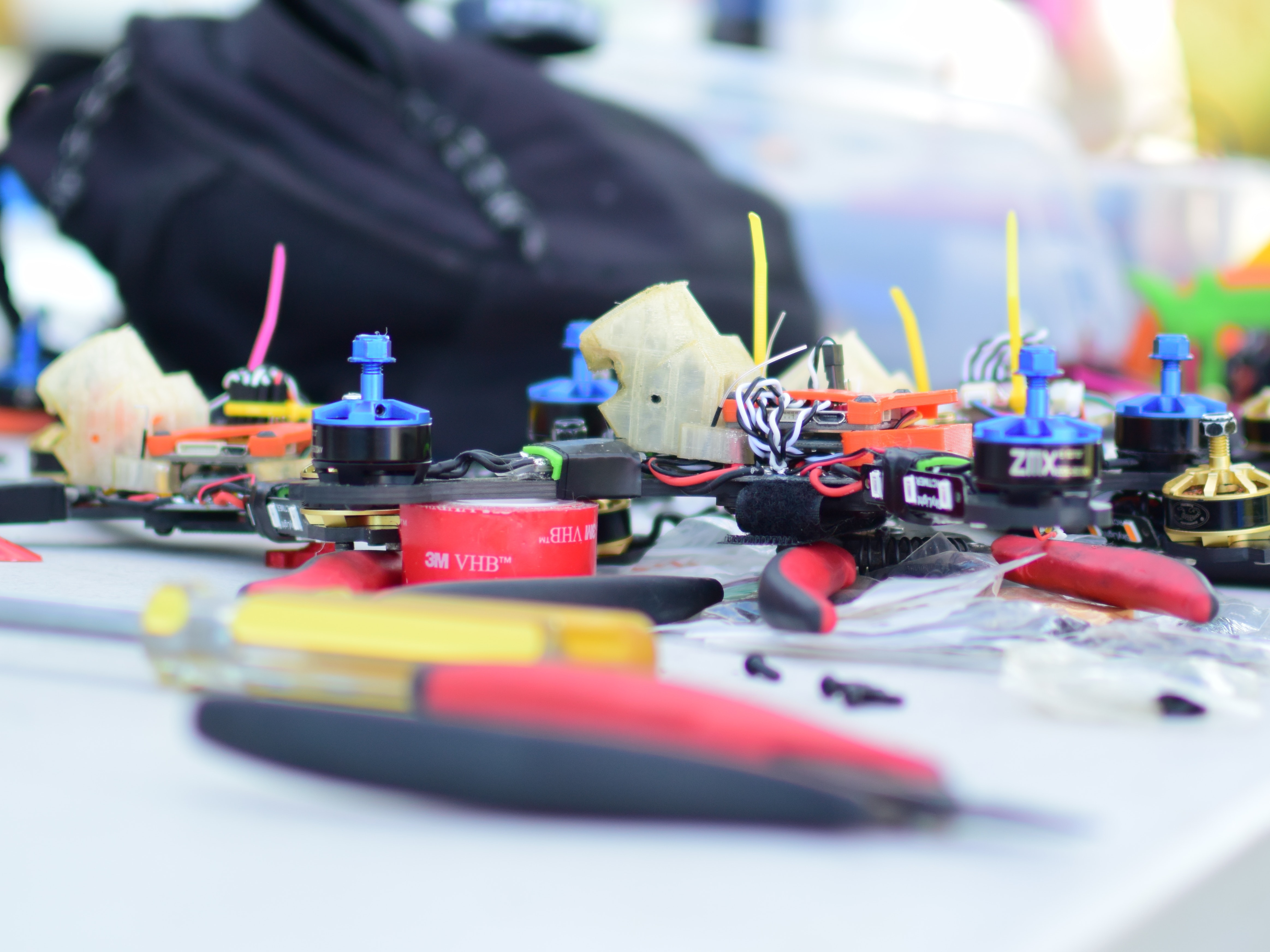 Morris brought six drones to Drone Nationals.