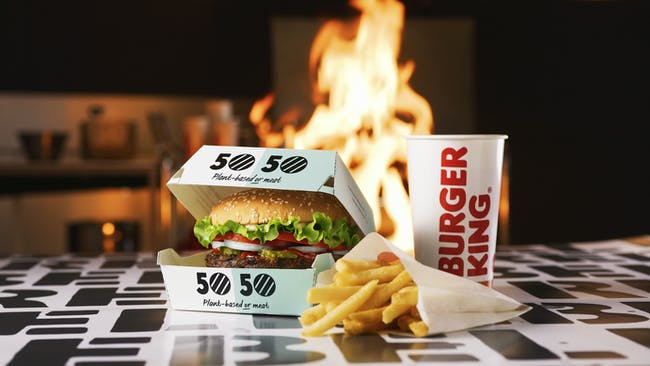 Burger King's 50/50 menu.