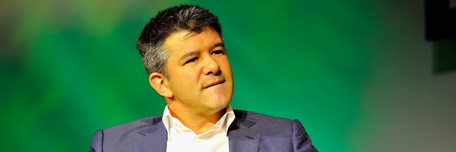 SAN FRANCISCO, CA - SEPTEMBER 08:  Uber CEO Travis Kalanick speaks onstage at TechCrunch Discrupt at Pier 48 on September 8, 2014 in San Francisco, California.  (Photo by Steve Jennings/Getty Images for TechCrunch)