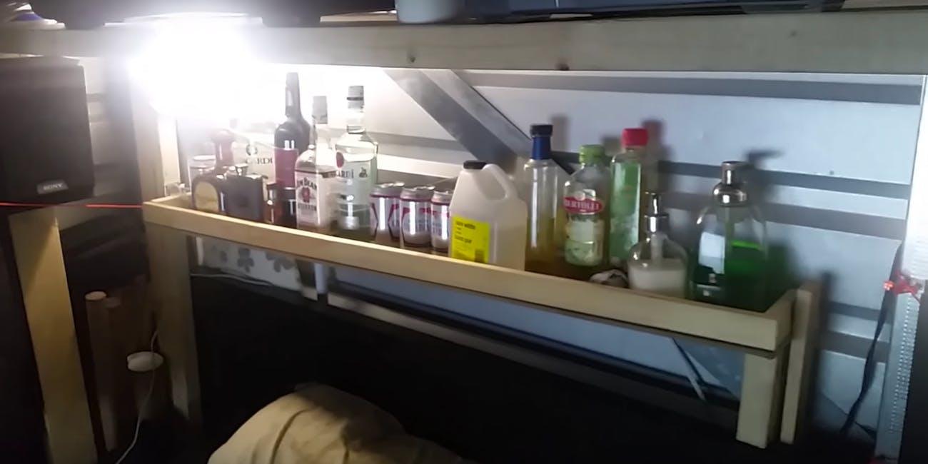 storage unit apartment bar