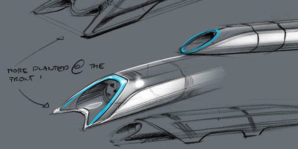 The hyperloop as imagined by Elon Musk in his original 2013 white paper.
