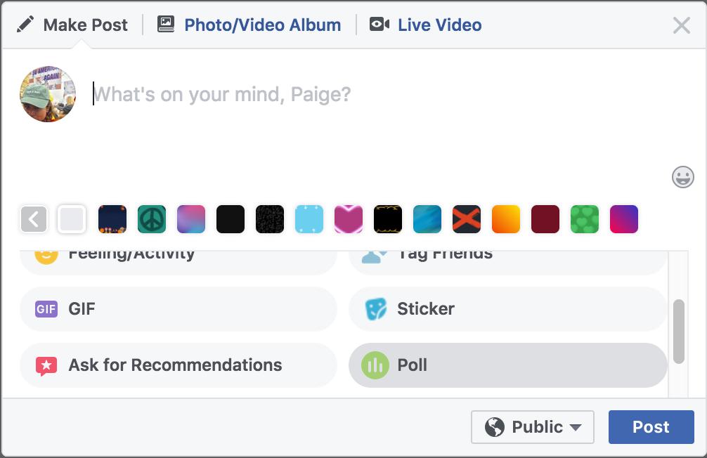 How to create a poll on facebook timeline ios