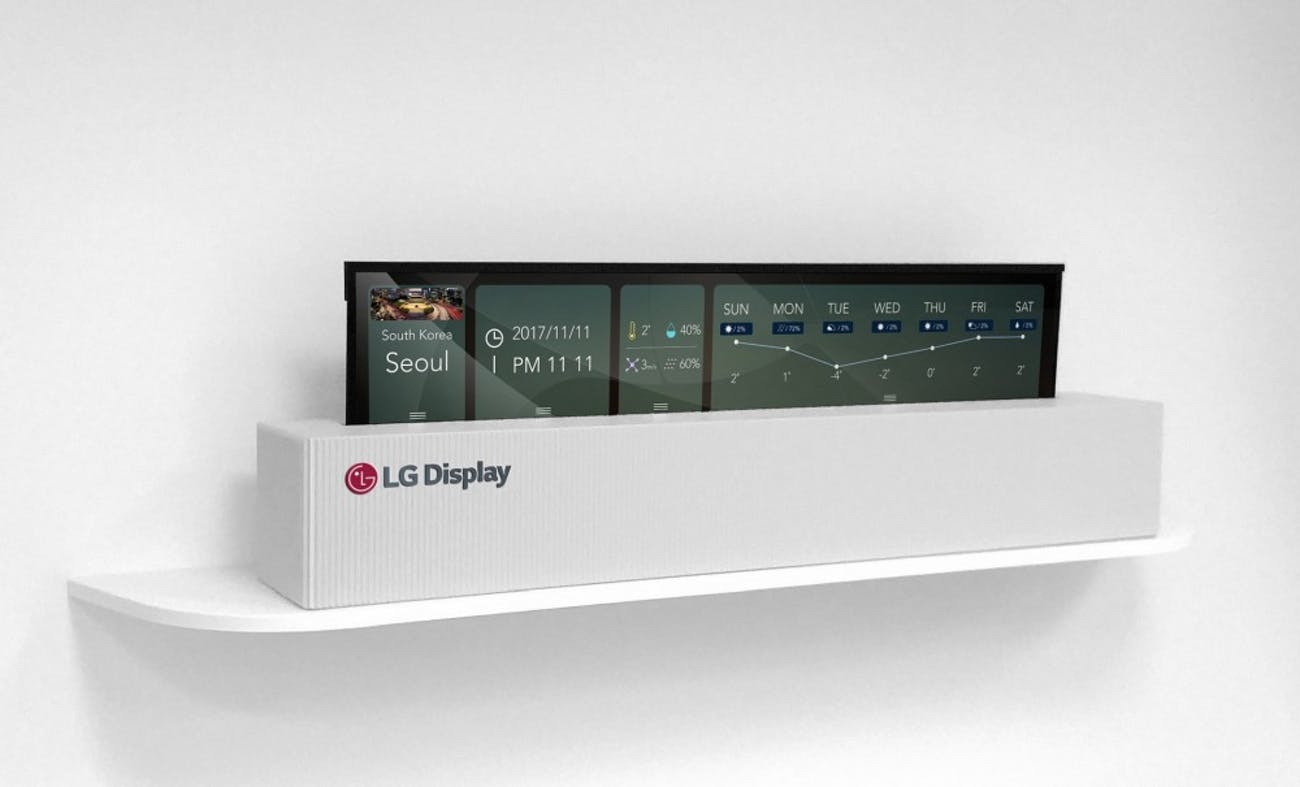 LG's roll-up TV from CES 2018.