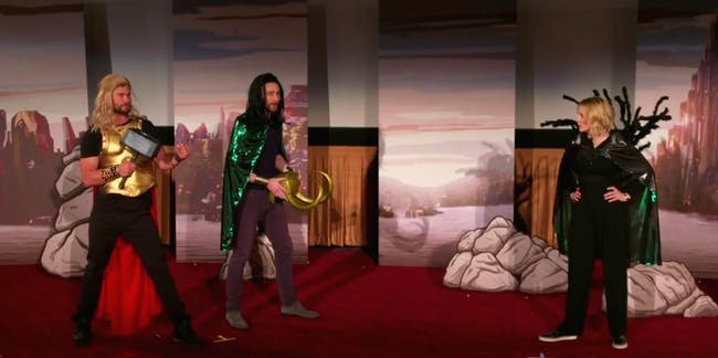 'Thor: Ragnarok 4D' on 'The Late Late Show With James Corden'.