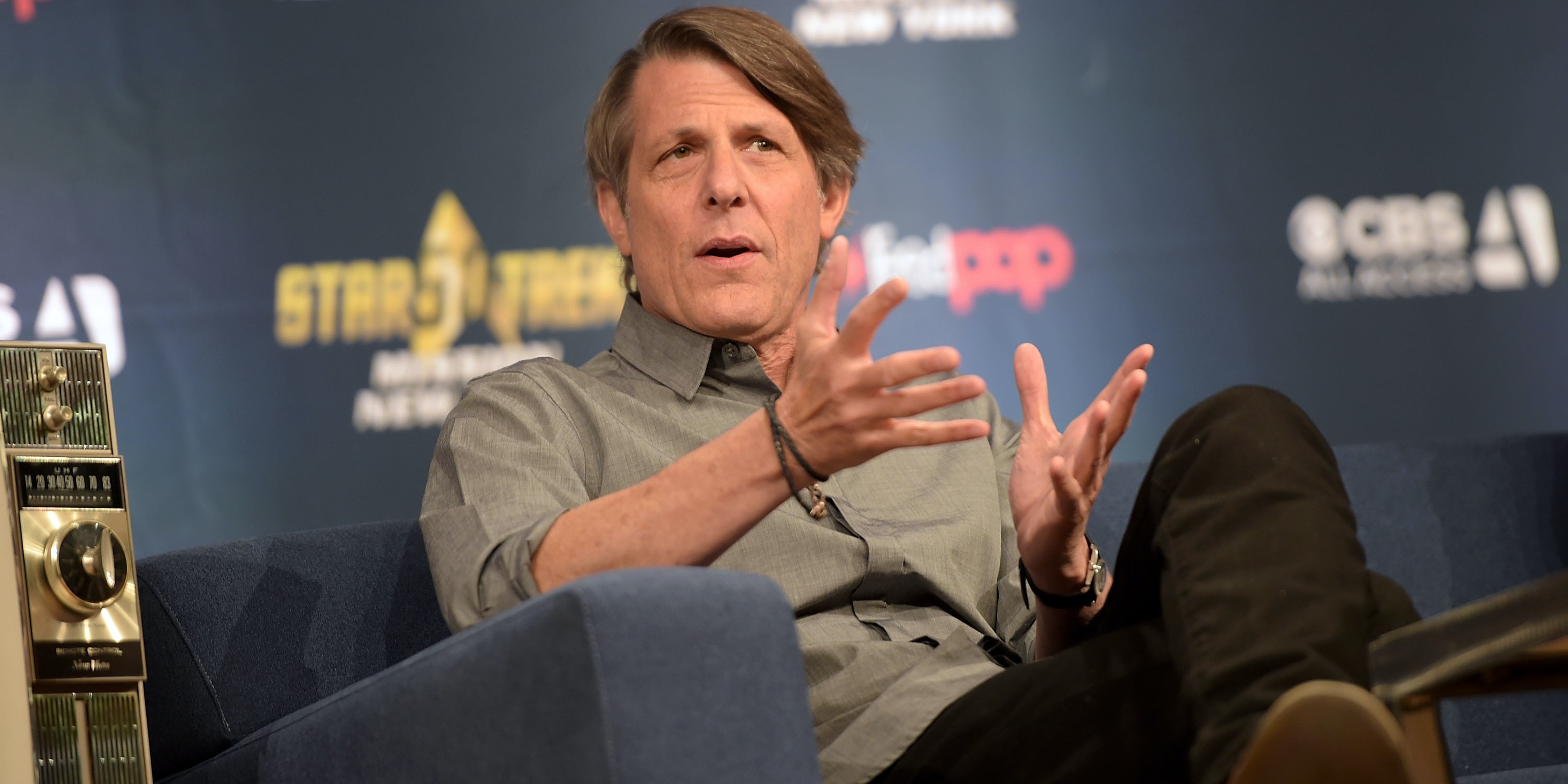 NEW YORK, NY - SEPTEMBER 03:  Director Adam Nimoy speaks during the Star Trek: Mission New York event at Javits Center on September 3, 2016 in New York City.  (Photo by Jason Kempin/Getty Images)