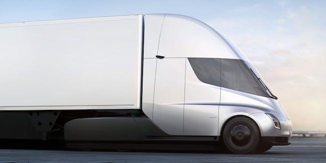 The Tesla Semi truck.