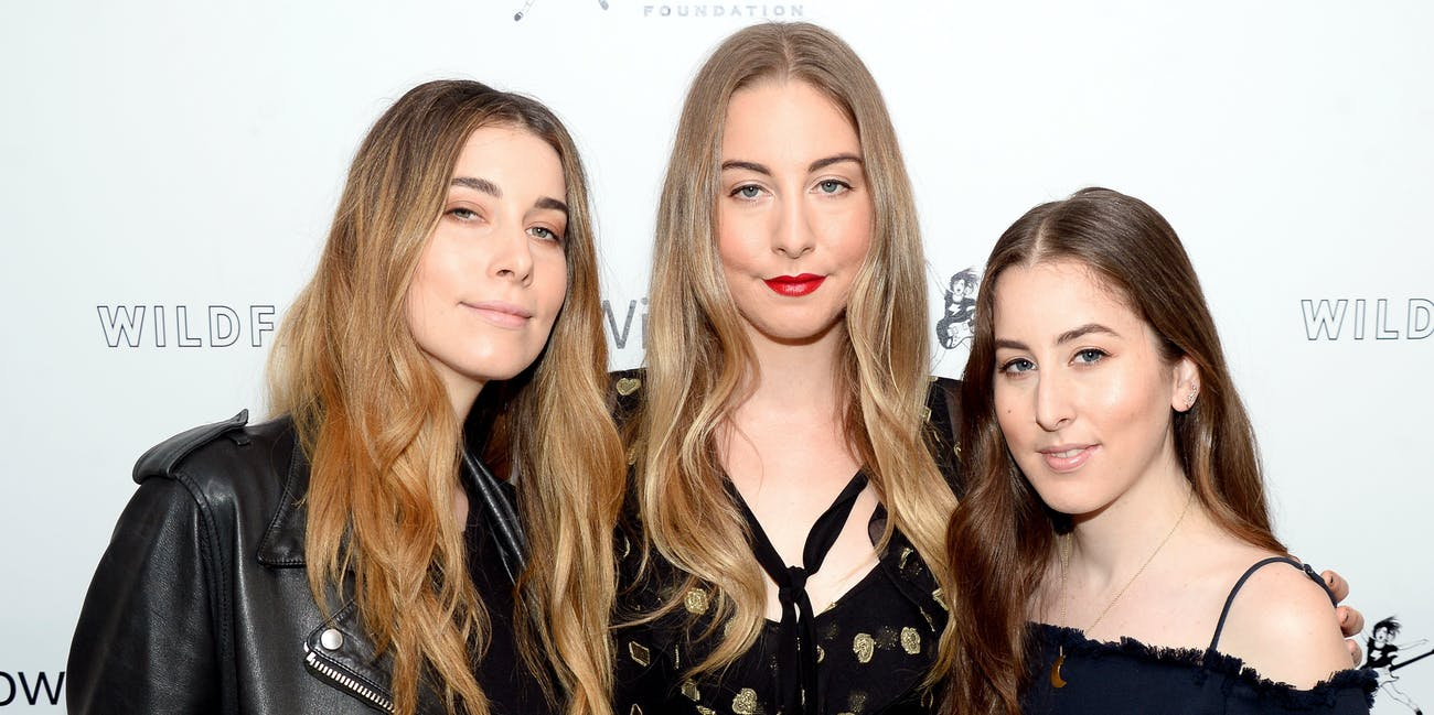 LOS ANGELES, CA - APRIL 29: (L-R) Recording artists Danielle Haim, Este Haim, and Alana Haim of HAIM attend the first annual 'Girls To The Front' event benefiting Girls Rock Camp Foundation at Chateau Marmont on April 29, 2016 in Los Angeles, California. (Photo by Matt Winkelmeyer/Getty Images)