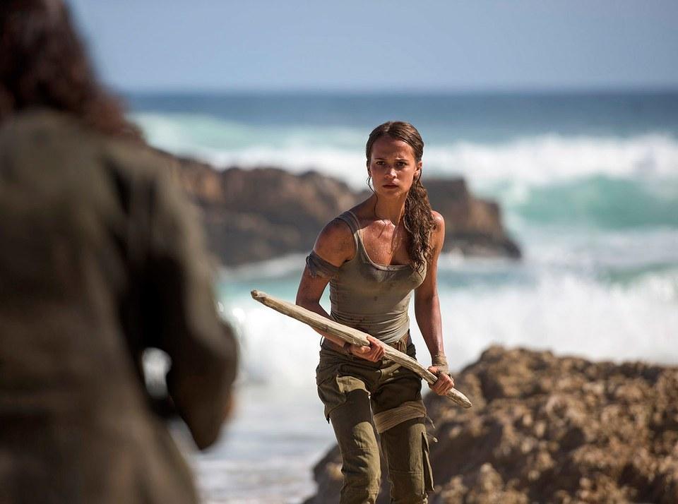 Lara on the beach.
