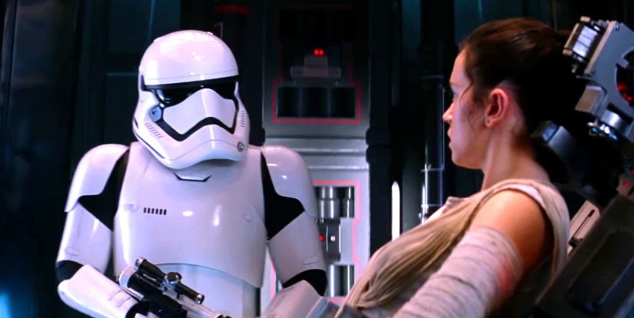 Did you know that's Daniel Craig in that stormtrooper armor?