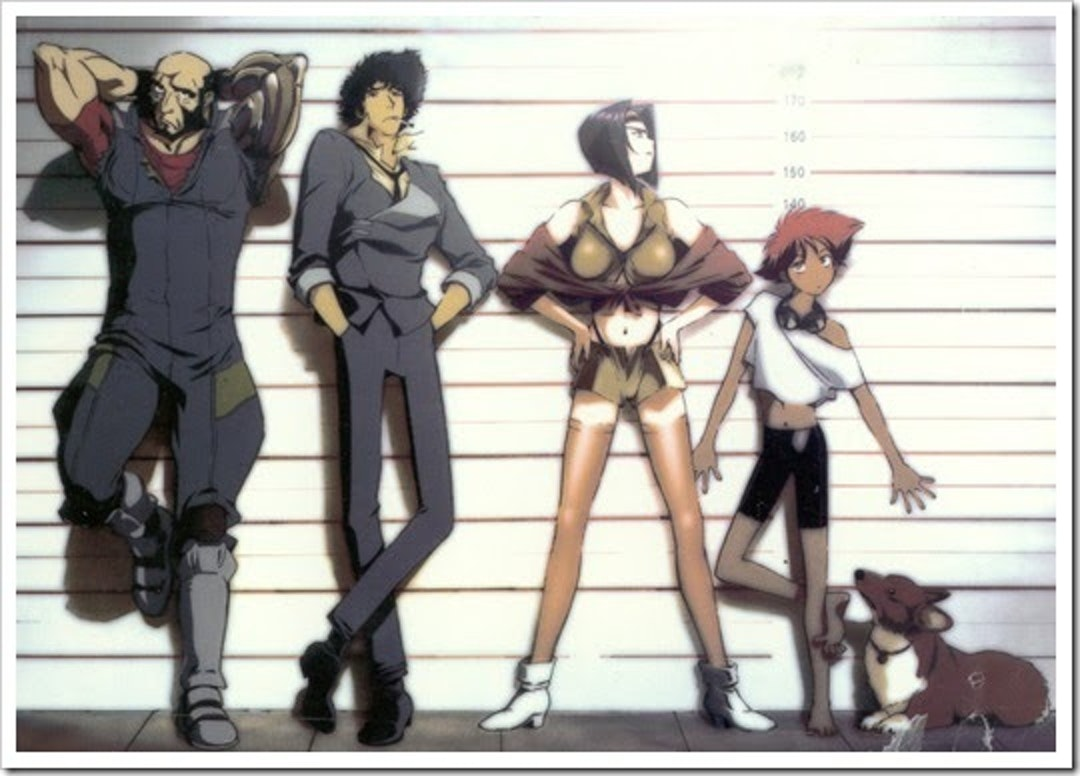 The main characters from the Japanese anime 'Cowboy Bebop'