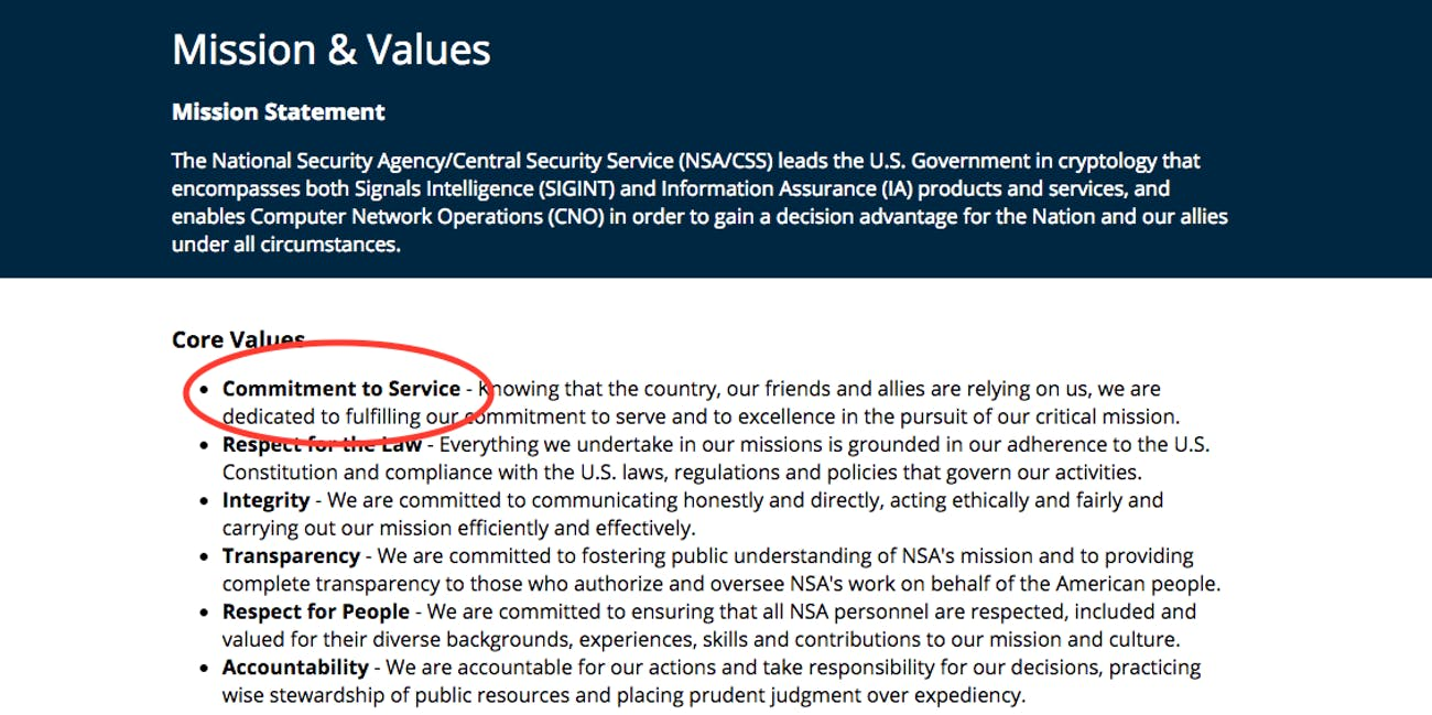 NSA, privacy, honesty