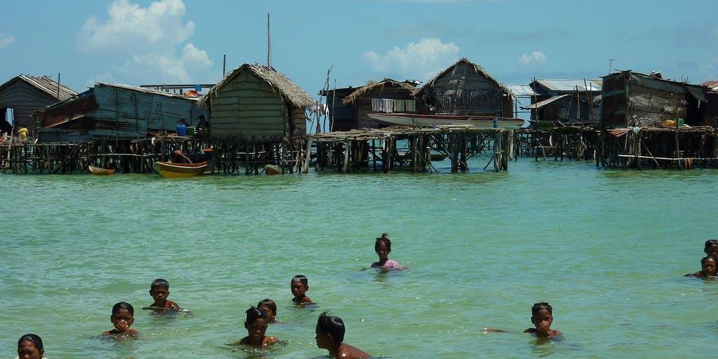 A Sama-Bajau village in Omadal Island, Sabah, Malaysia