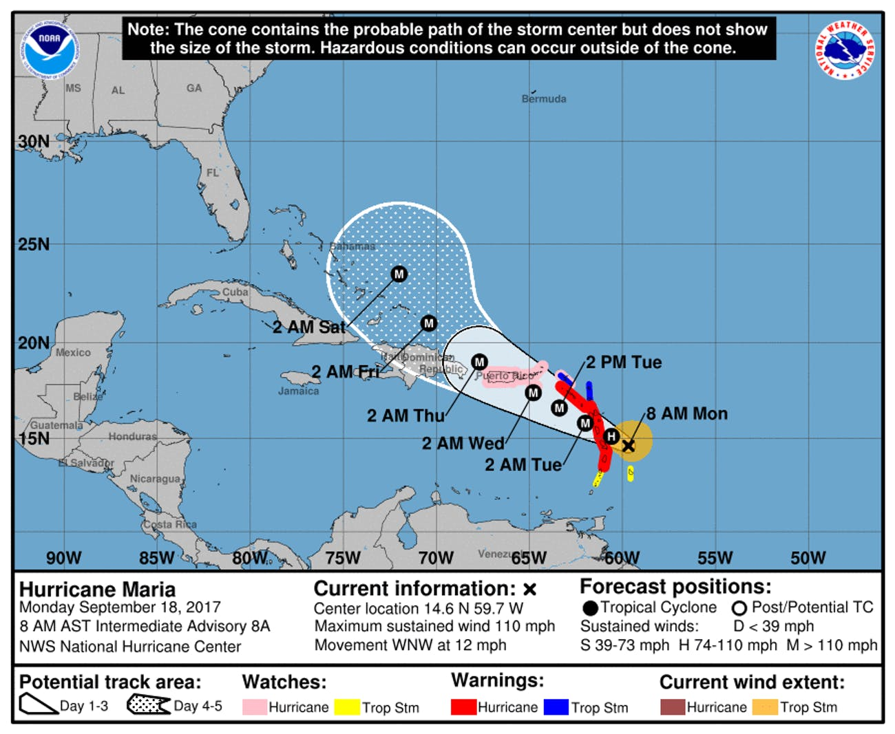 These 3 Hurricane Maria Maps Show How It s Getting Stronger