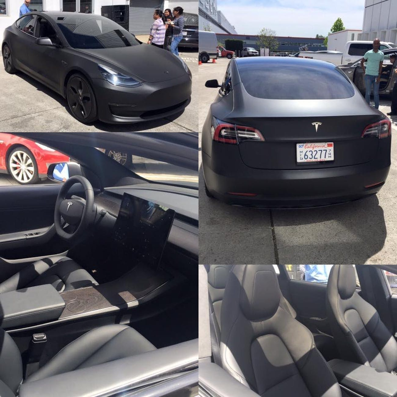 Feast Your Eyes on a Murdered-Out Tesla Model 3 Prowling
