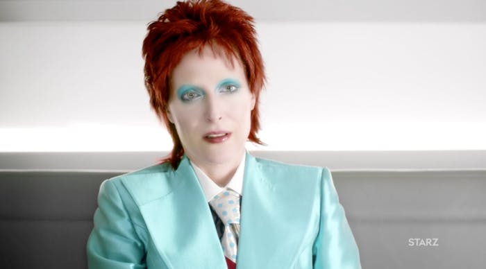 Gillian Anderson as David Bowie in 'Lemon Scented You'