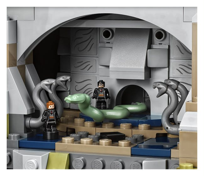 Here are lil Harry and Ron in the Chamber of Secrets.
