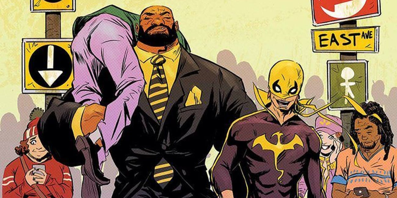 Luke Cage and Danny Rand as they appear in 'Iron Fist and Power Man'