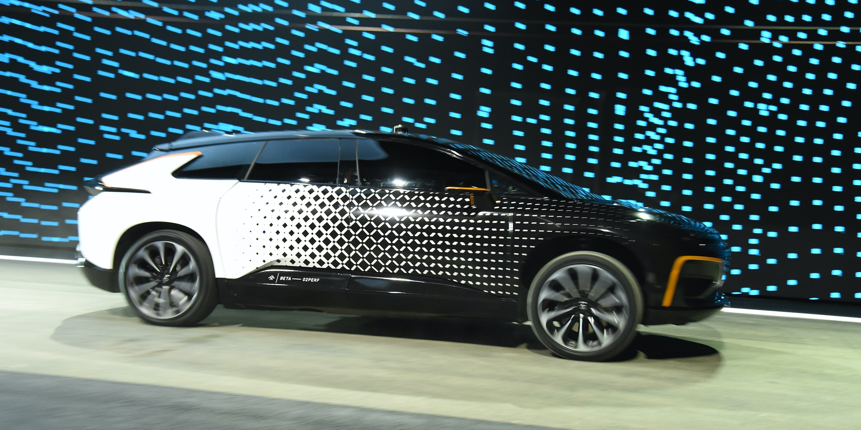 At CES 2017 in Las Vegas, Faraday Future revealed its first-ever production vehicle, the FF 91 , which features a driverless valet parking feature.