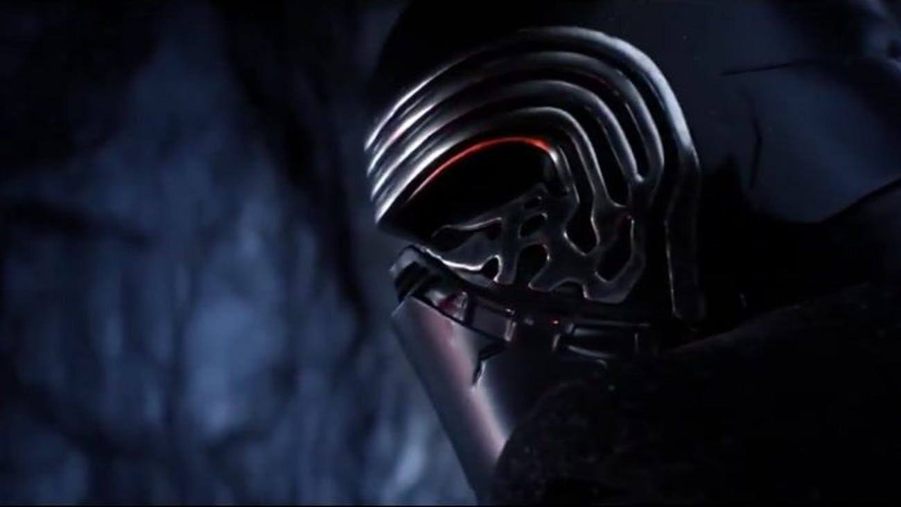 The shot of Kylo Ren isn't new, but its placement in the trailer is telling.