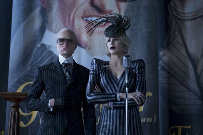 Neil Patrick Harris as Olaf and Lucy Punch as Esme Squalor.