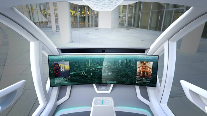 The on-board touchscreen Pop.Up Next