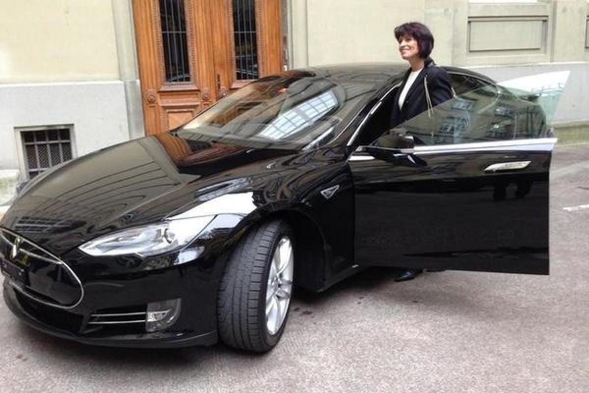 tesla electric car switzerland
