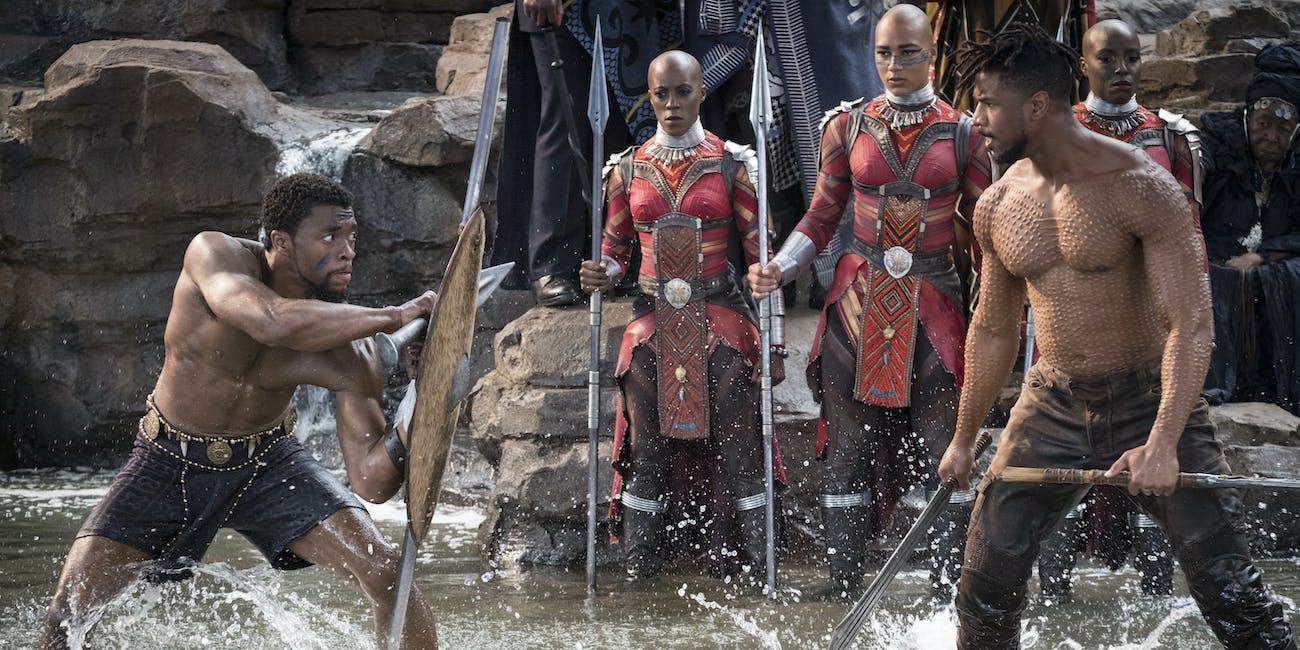 Black Panther T'Challa versus Killmonger