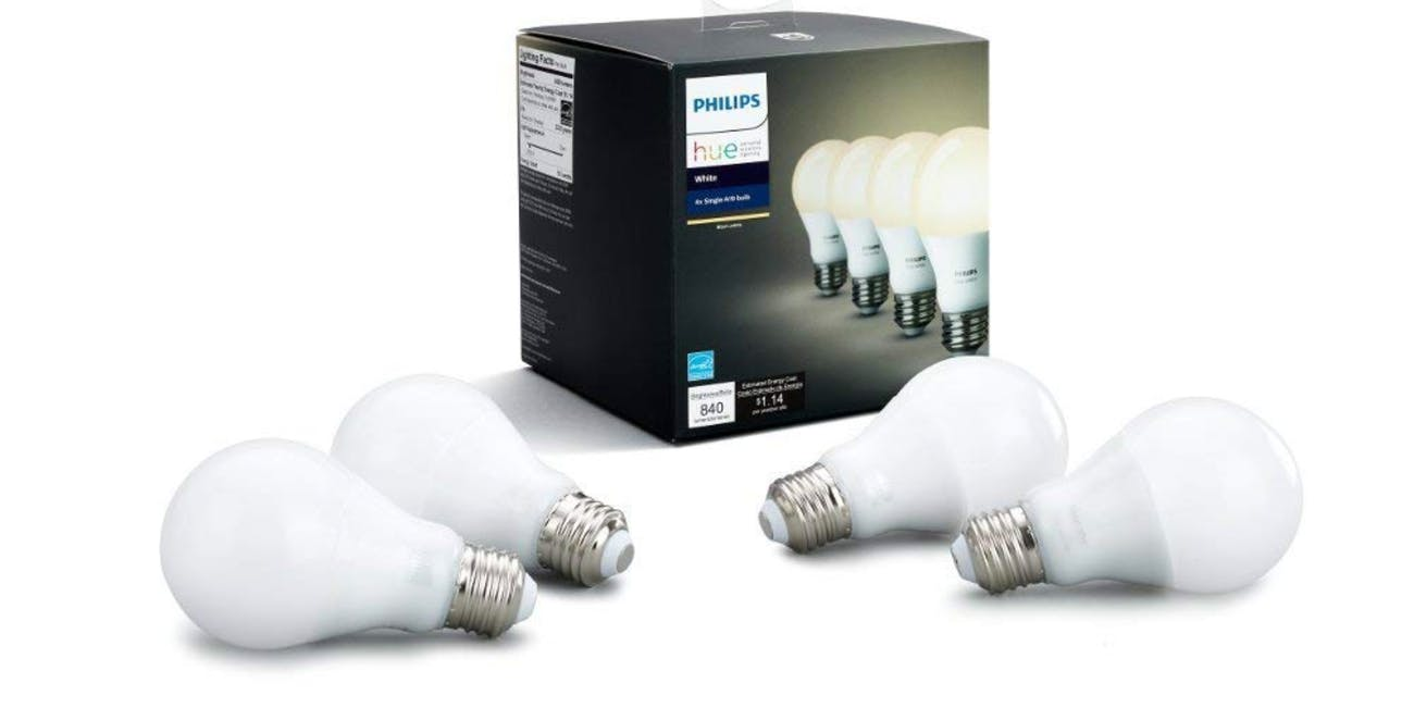 Philips Hue 4-Pack Dimmable LED Smart Bulbs