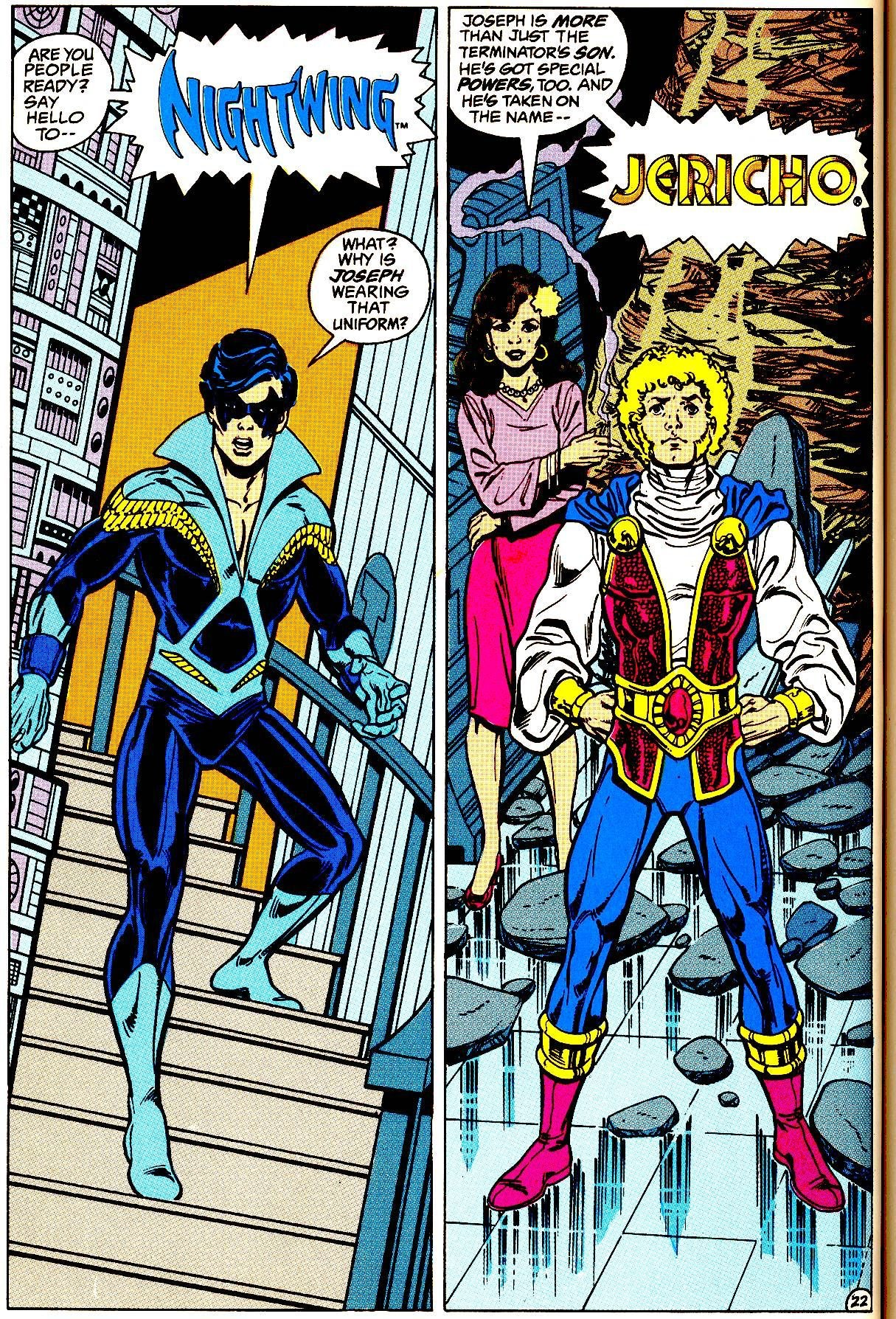 Transformation comic Teen titans