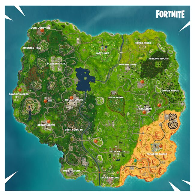Here are nine of the known basketball hoops currently in 'Fortnite: Battle Royale'.