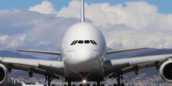A passenger jet.
