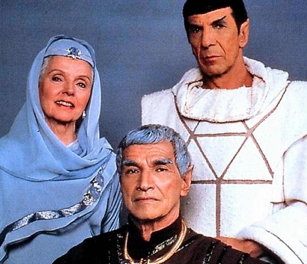 Spock and his parents in 'Star Trek IV: The Voyage Home'