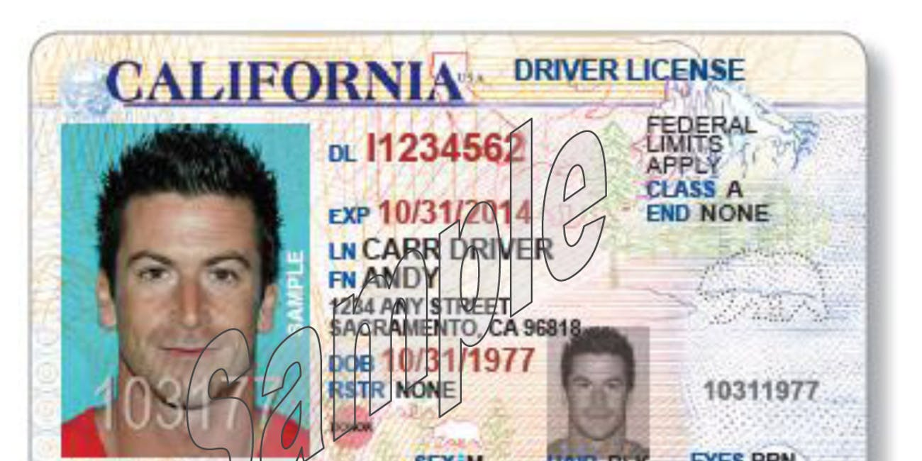 License Inverse California Change To Just Big Its A Made Drivers