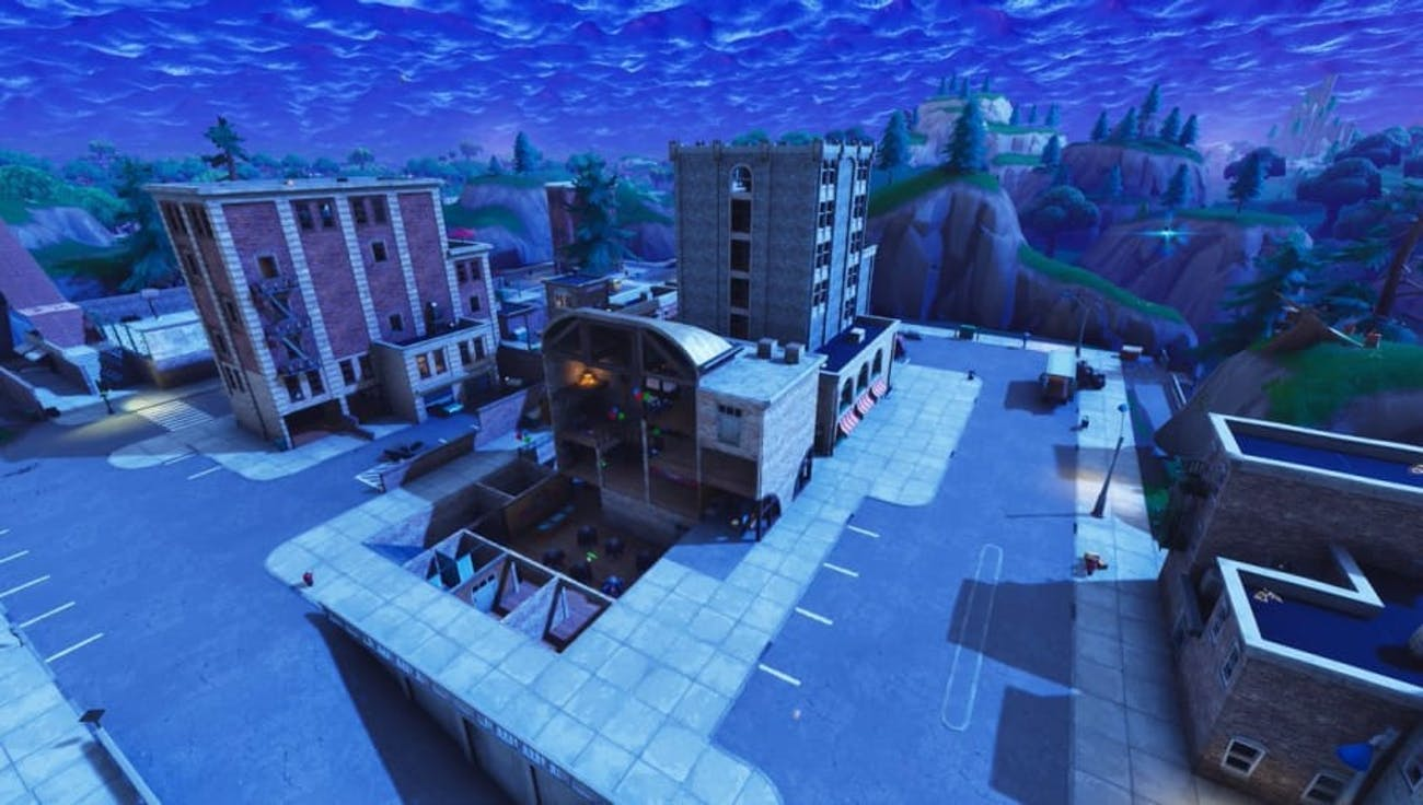 'Fortnite' Tilted Towers Destroyed Building