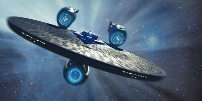 The USS Enterprise in 'Star Trek Beyond'