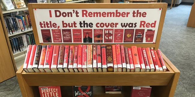 Red Book Display in Framingham Public Library