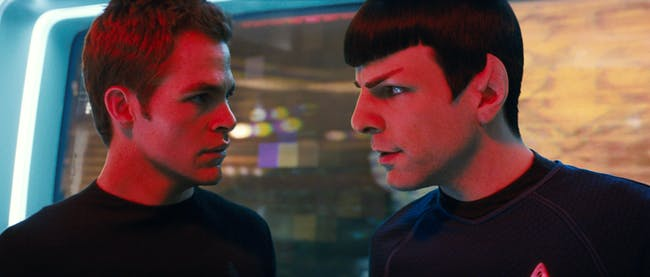 Kirk and Spock in a bizzaro version on the year 2258