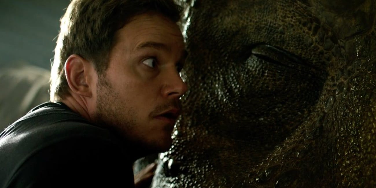 Can you believe that Owen survives this scene in 'Jurassic World: Fallen Kingdom'?