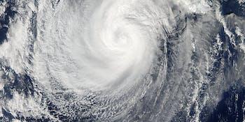 Typhoon passes over Japan