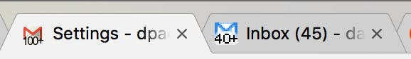 "Both of the Gmail logos with ""Unread message icon"" enabled."