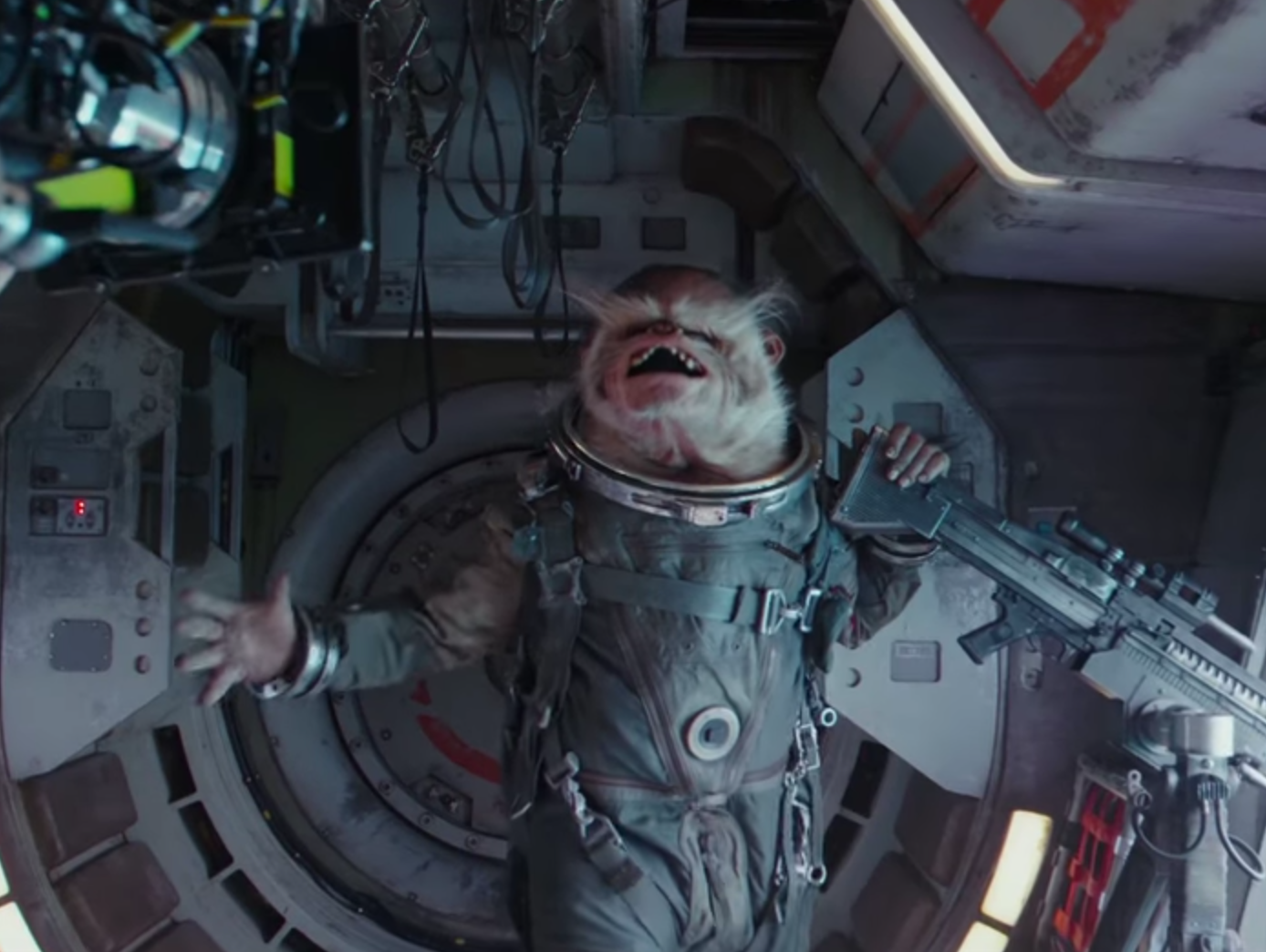 Cackling 'Rogue One' Space Monkey is a Crew Favorite
