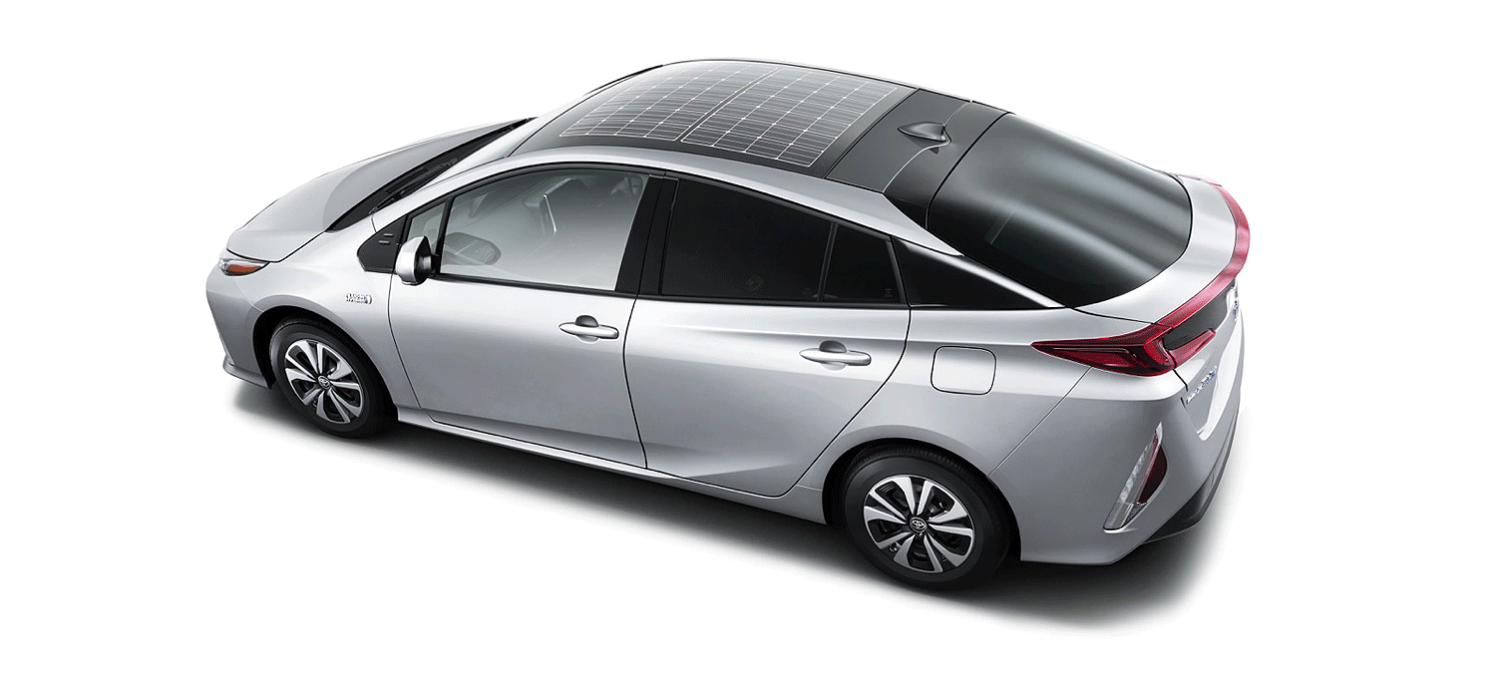 The solar roof as seen on the Prius Prime.