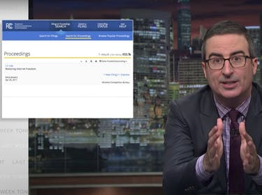 John Oliver's Net Neutrality Story Seems to Have Backfired