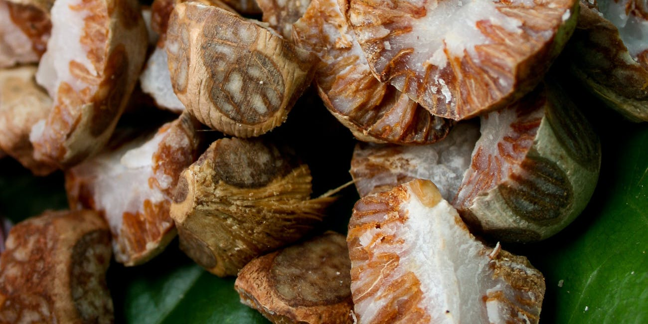 Betel leaves with areca nuts