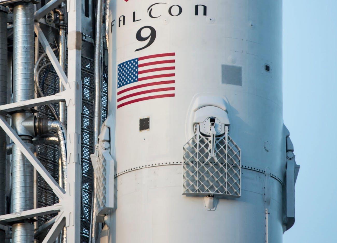 A SpaceX Falcon 9 grid fin.