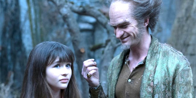 Count Olaf and Violet in 'A Series of Unfortunate Events'